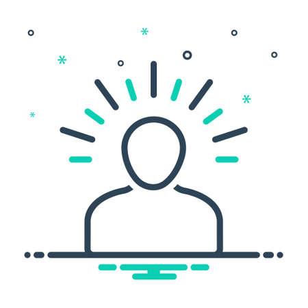 Icon for yoga,meditate