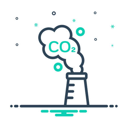 Icon for carbon,emission