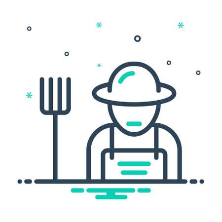 Icon for farmer,peasant