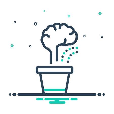 Icon for improvement,brain