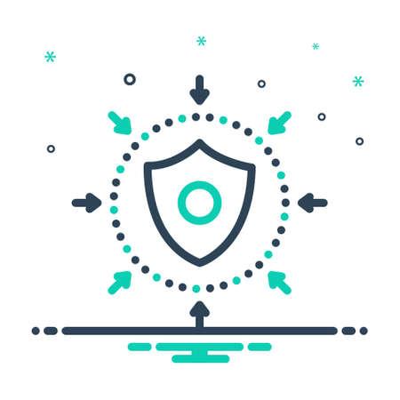 Icon for defense,safeguard
