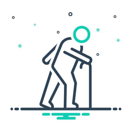 Icon for elderly,aged 일러스트