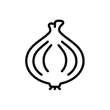 Icon for onion,vegetable 矢量图像