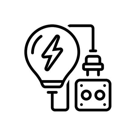 Icon for electric, thunder bolt