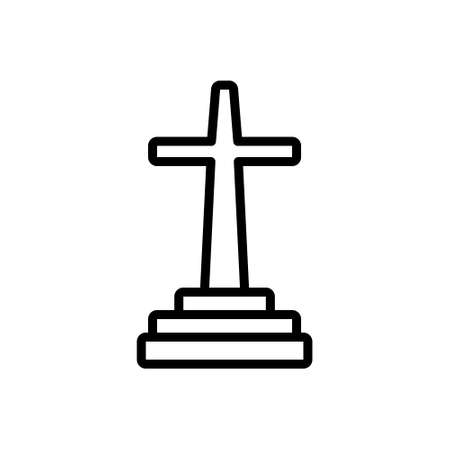 Icon for catholic, jesus 矢量图像