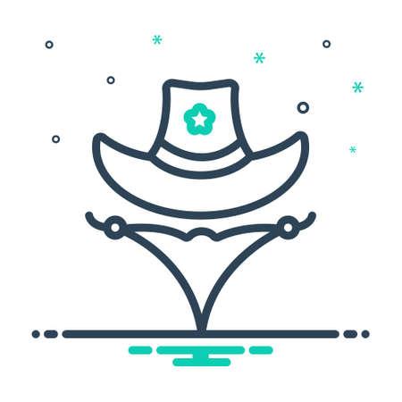 Icon for western, cowboy Vectores