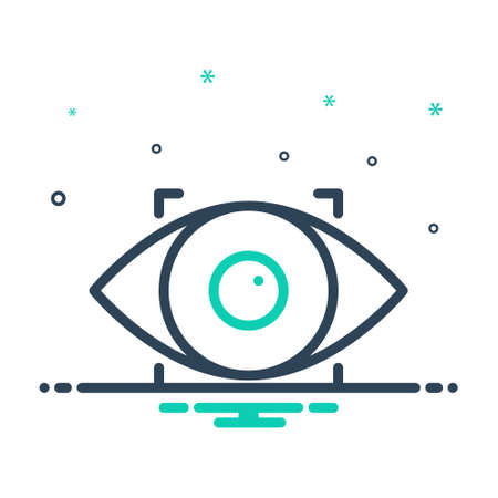 Icon for eye, scanner