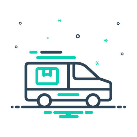 Icon for deliver,delivery Çizim