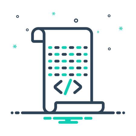 Icon for script,certification
