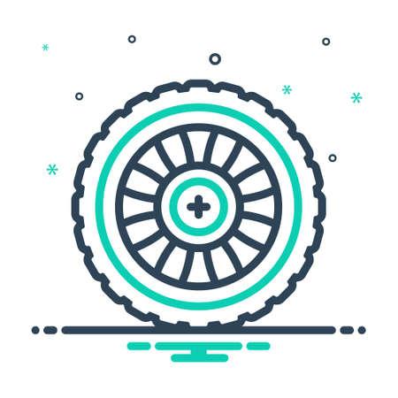 Icon for wheel,automobile