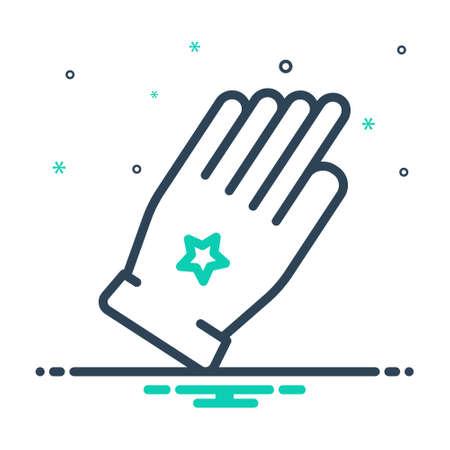 Icon for glove,safety Çizim