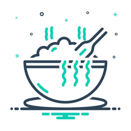Icon for meal,hot Çizim