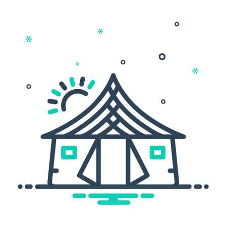 Icon for tent ,awning Illusztráció