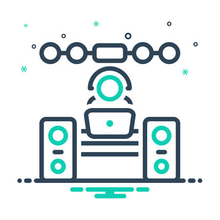 Icon for operator,sound system