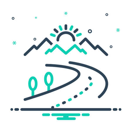 Icon for highway,highroad