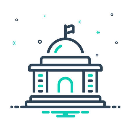 Icon for government,state Vektorgrafik