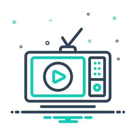 Icon for tv broadcast Çizim