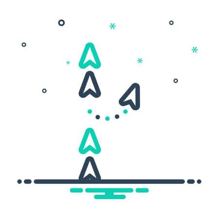 Icon for changing,transshipment  イラスト・ベクター素材