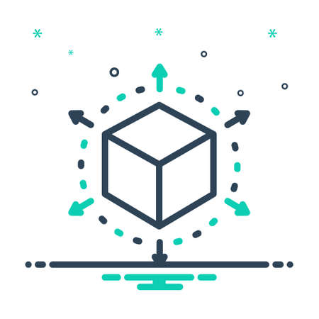 Icon for perspective,cube