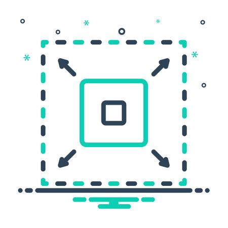 Icon for enhance,enlarge Vektorgrafik