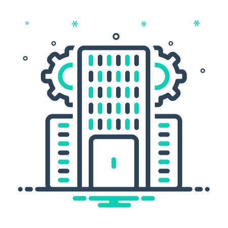 Icon for enterprise,business