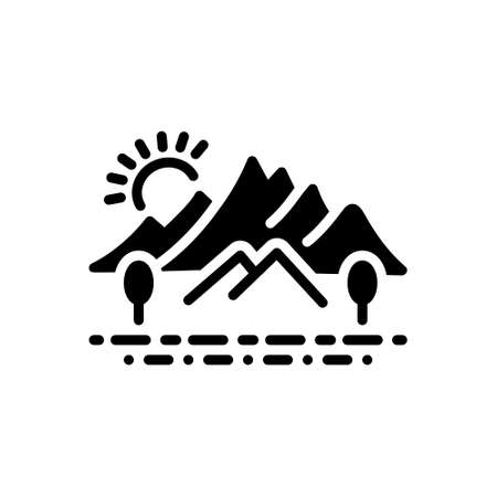 Icon for hill,countryside
