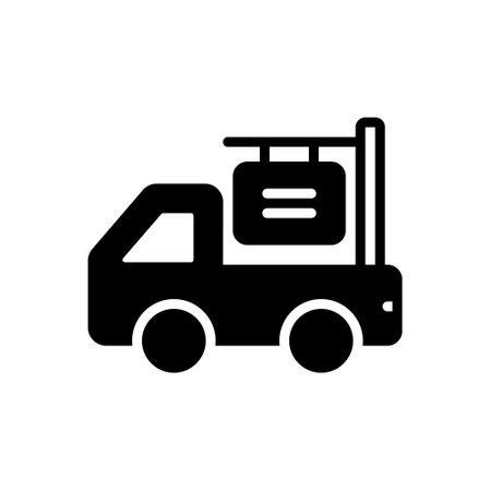 Icon for van advertising,van,advertising
