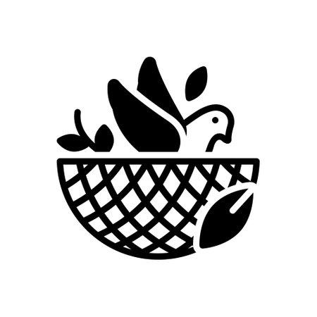Icon for bird in nest,bird