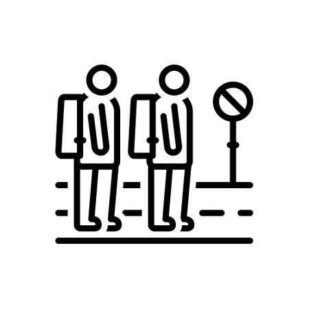 Illustration  Icon for waiting public transport.