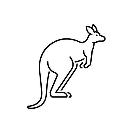 Icon for kangaroo,australia