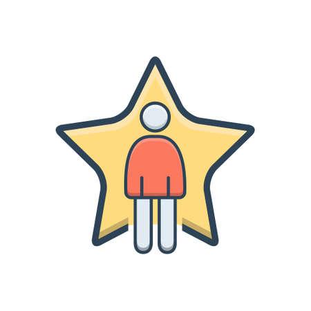 Superstar icon Stock Illustratie