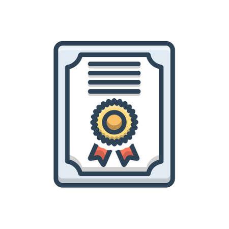 Certificate icon Stock Illustratie