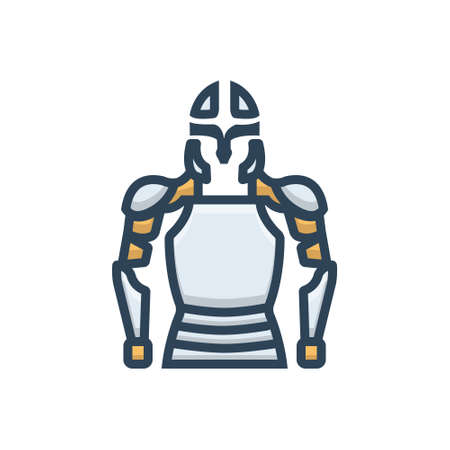 Armor icon Stock Illustratie