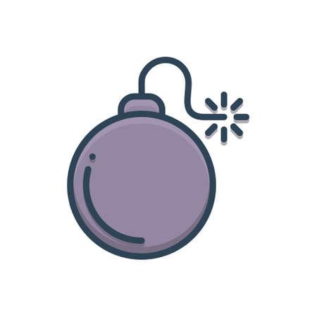 Bomb icon Stock Illustratie