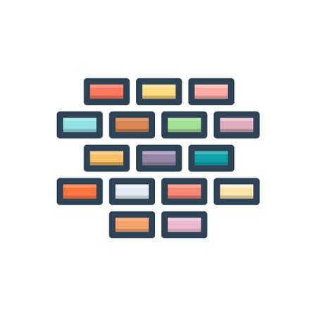 Brick icon Stock Illustratie