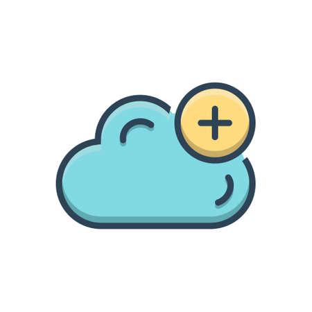 Cloud add icon Stock Illustratie