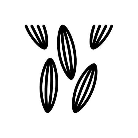 Icon for cumin,cumin seed