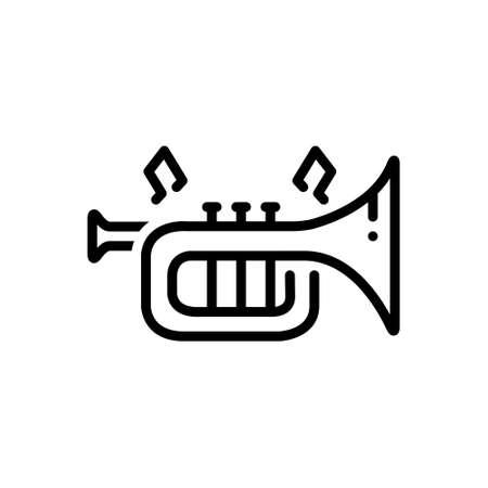 Icon for instrument,trumpet Stock Illustratie