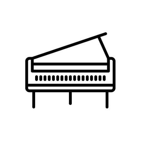 Icon for piano,concert Stock Illustratie