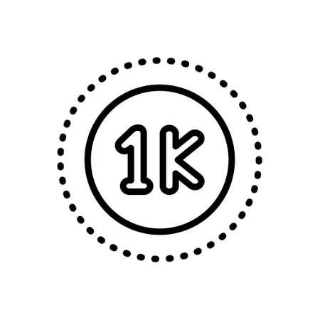 Icon for thousand,mile Stockfoto