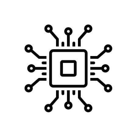 Icon for chip,digital,technology