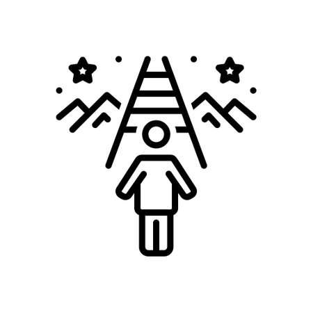 Icon for purpose,goal Stock Illustratie
