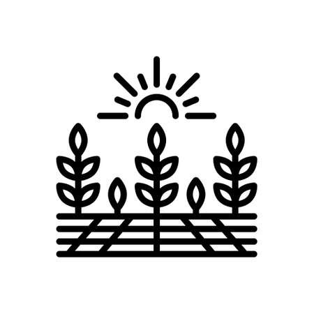 Icon for agricultural,farming Stock Illustratie