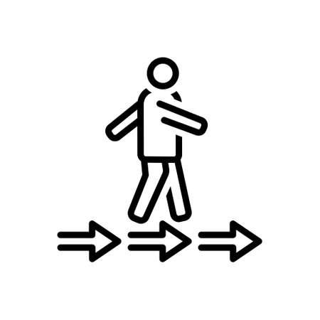 Icon for pursue,move