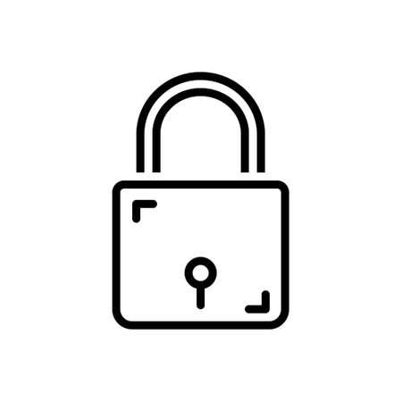 Icon for lock,keyhole Illusztráció