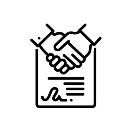 Icon for consensus,agreement Stock Illustratie