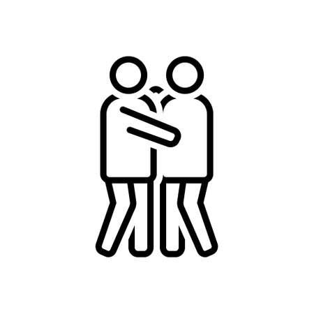 Icon for hug,meet