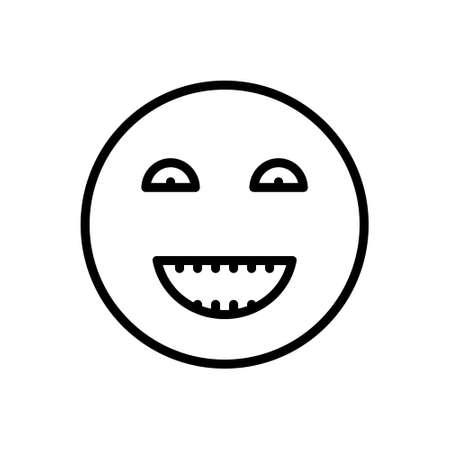 Icon for humor,laughter Ilustração Vetorial
