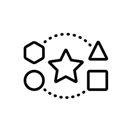 Icon for shape,size