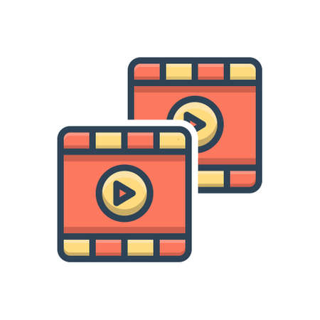 Video icon Stock Illustratie